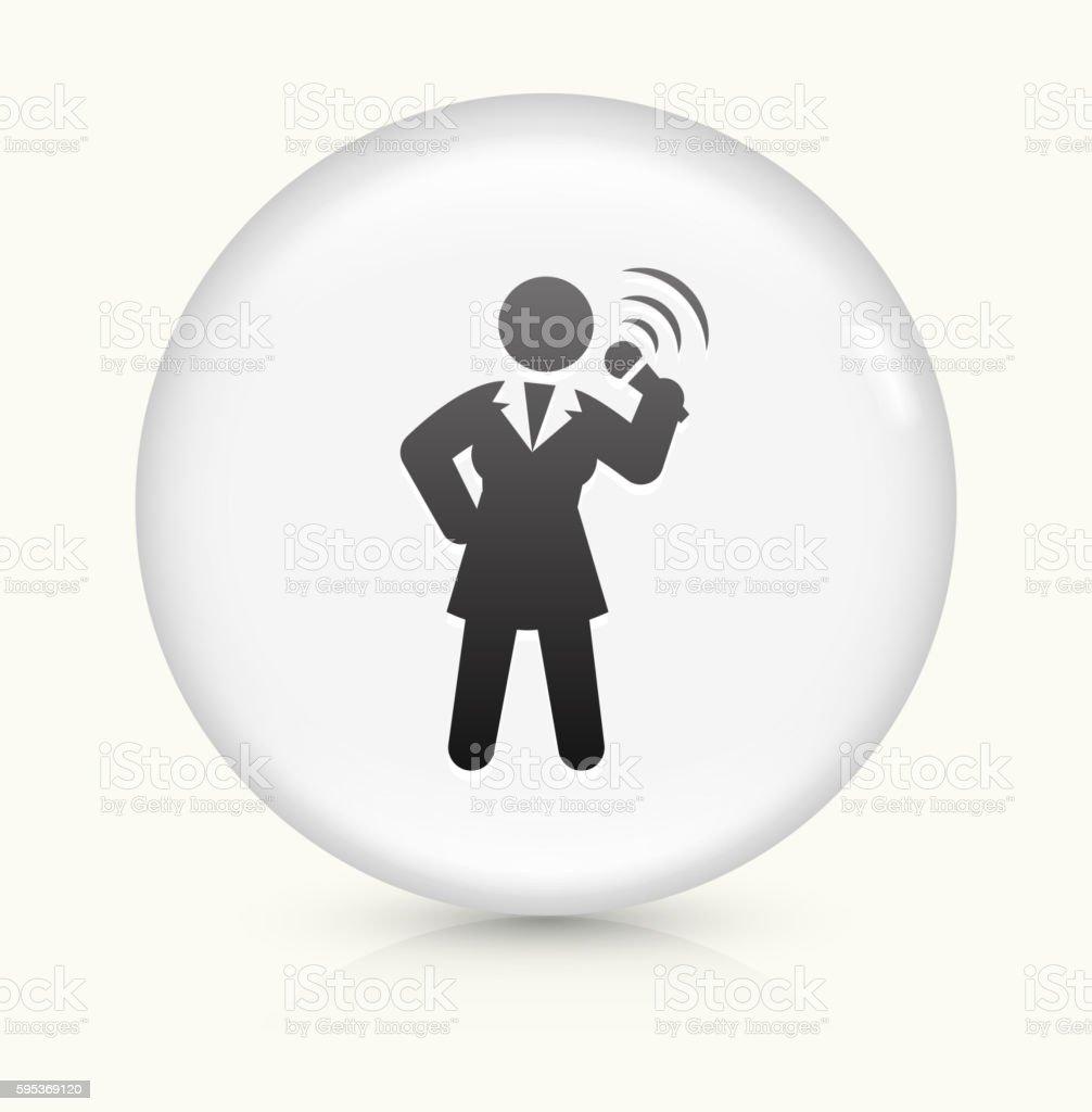 Public Speaking icon on white round vector button vector art illustration