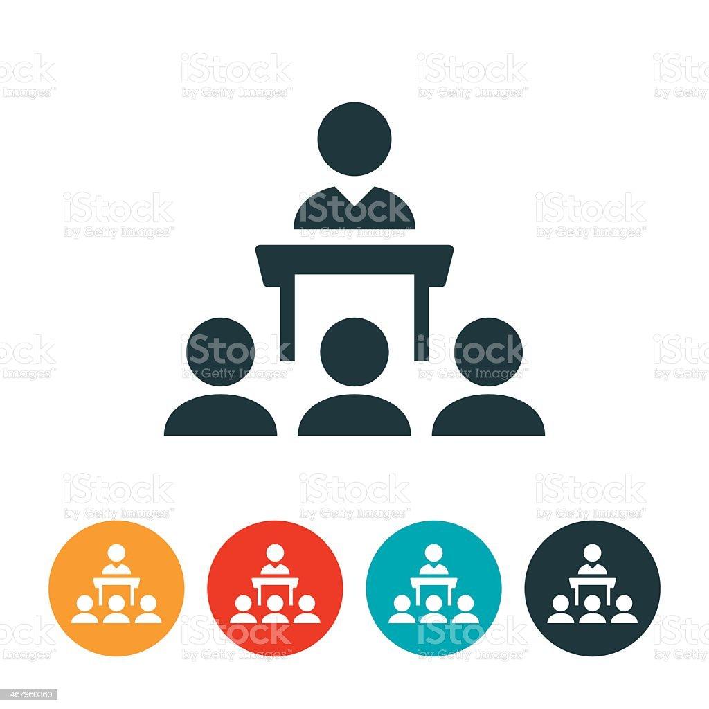 Public Speaking Icon vector art illustration