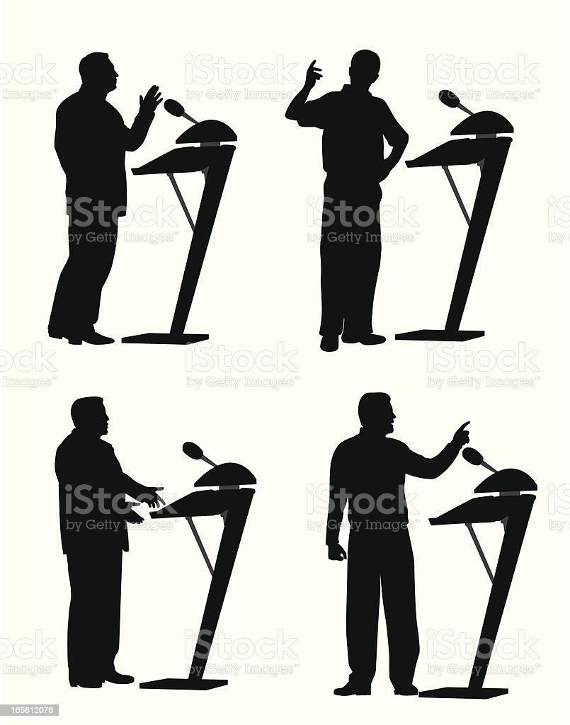 Public Talk Vector Silhouette royalty-free stock vector art