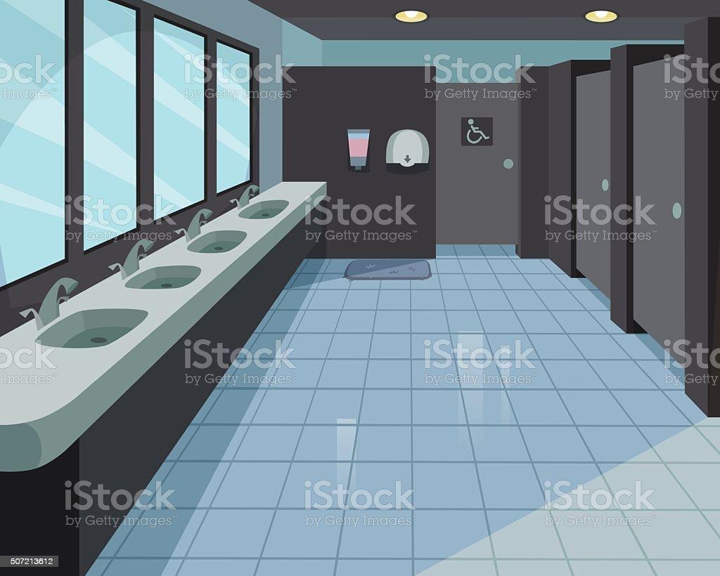Public Toilet vector art illustration
