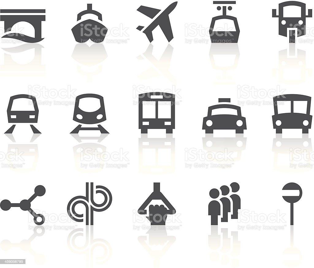 Public Transportation Icons | Simple Black Series vector art illustration