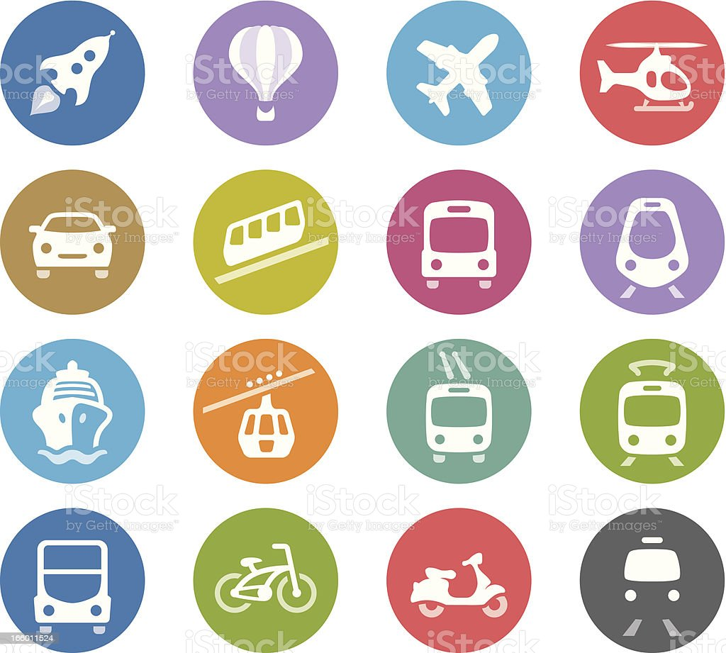 Public Transportation / Wheelico icons vector art illustration