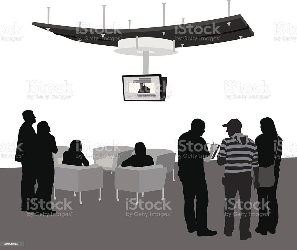 Public Vector Silhouette royalty-free stock vector art