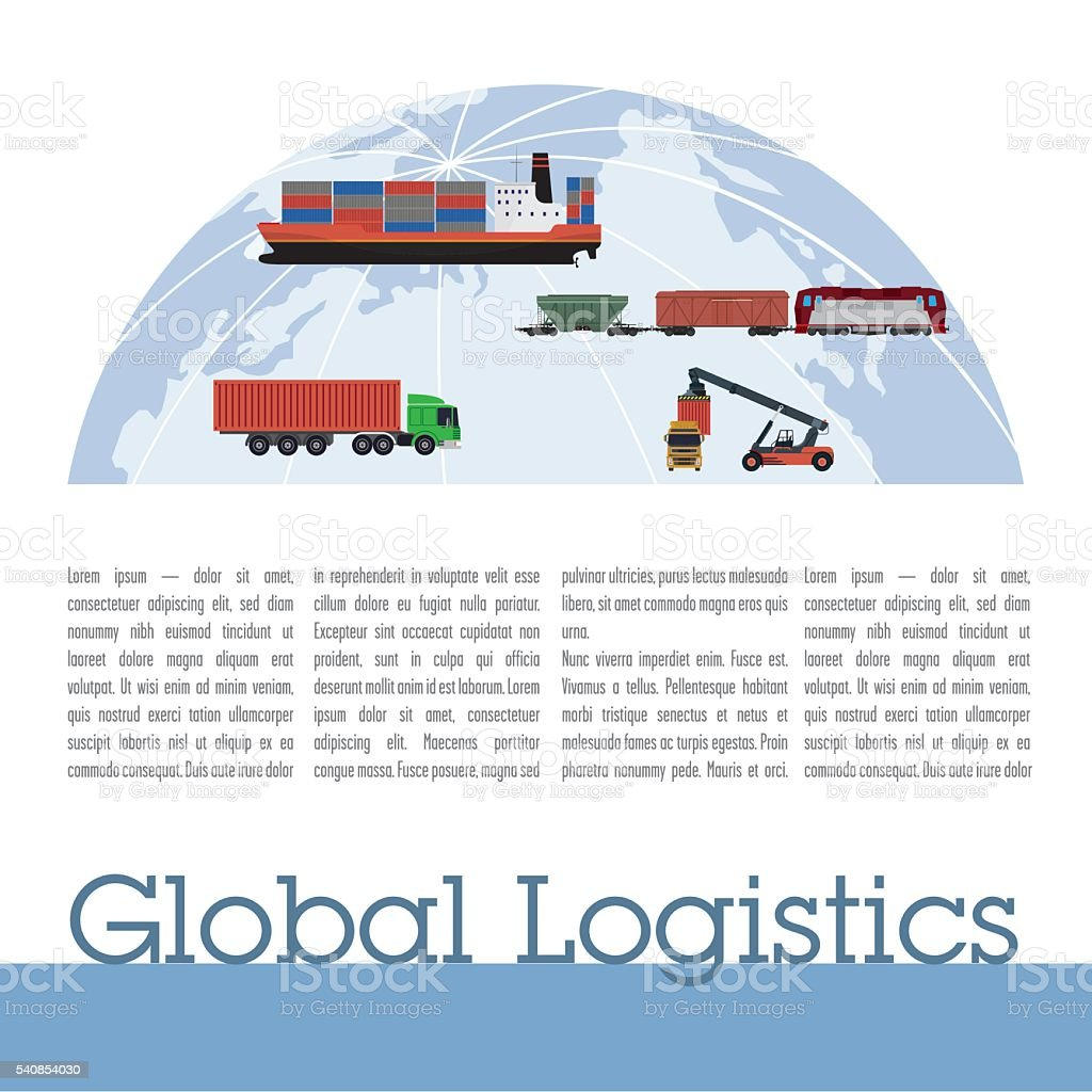 Publication template logistics vector art illustration