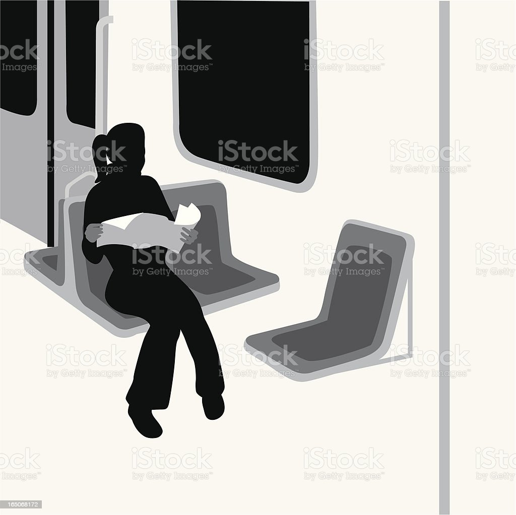 PublicTransport Vector Silhouette royalty-free stock vector art