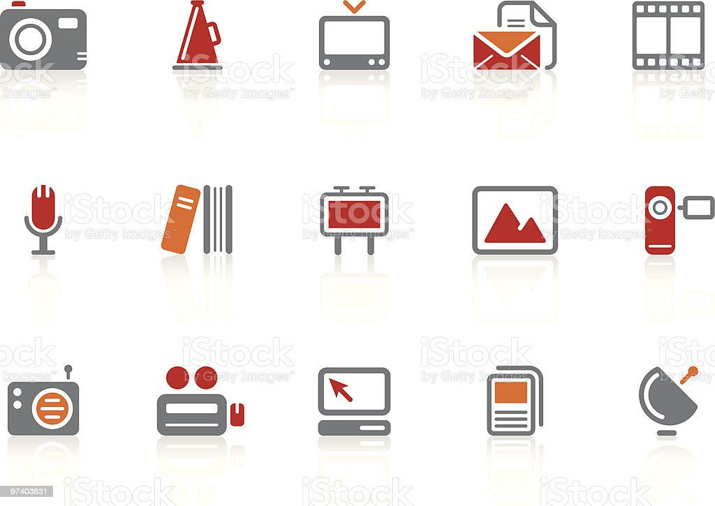Publishing and Mass Media icons | Alto series royalty-free stock vector art