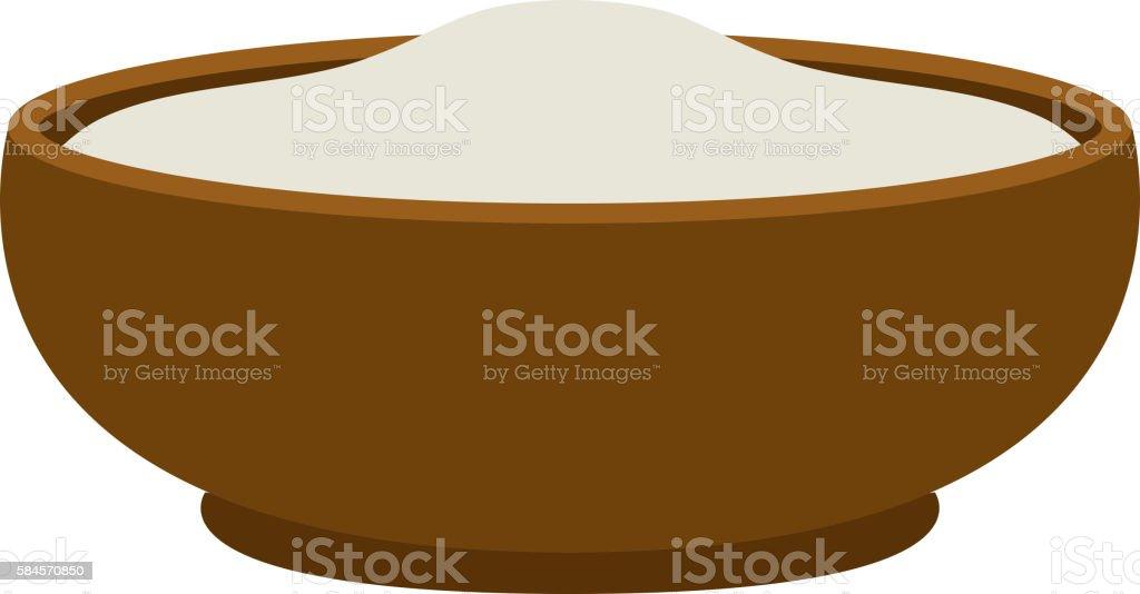 Pudding dessert vector illustration. vector art illustration