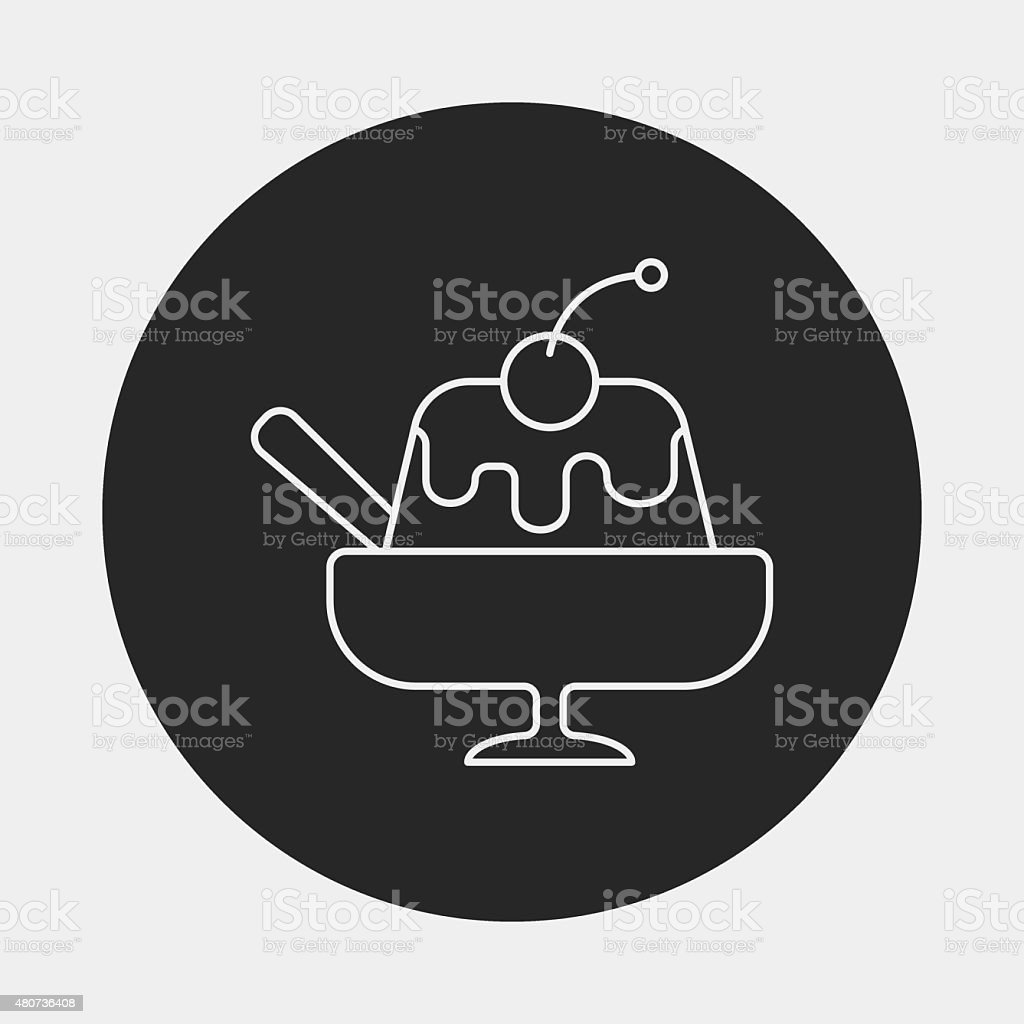 pudding jelly line icon vector art illustration