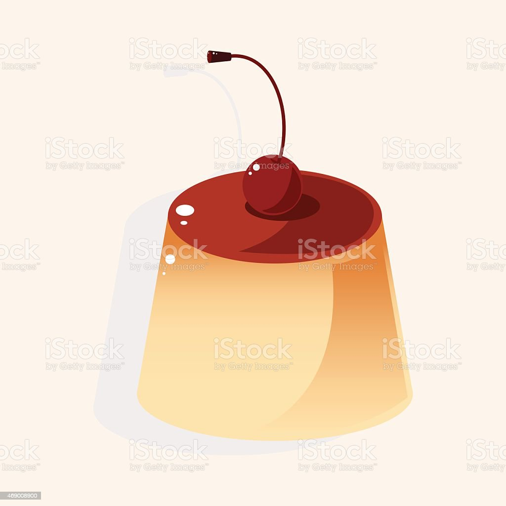 pudding theme elements vector art illustration