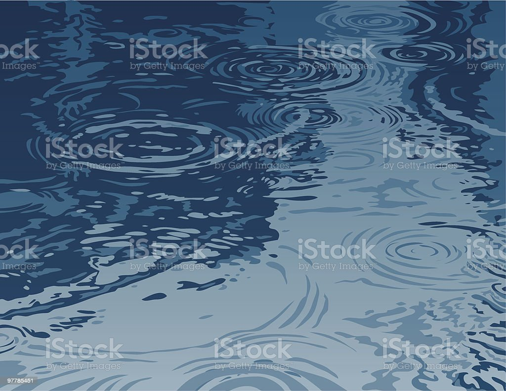 Puddle on a Rainy Day vector art illustration
