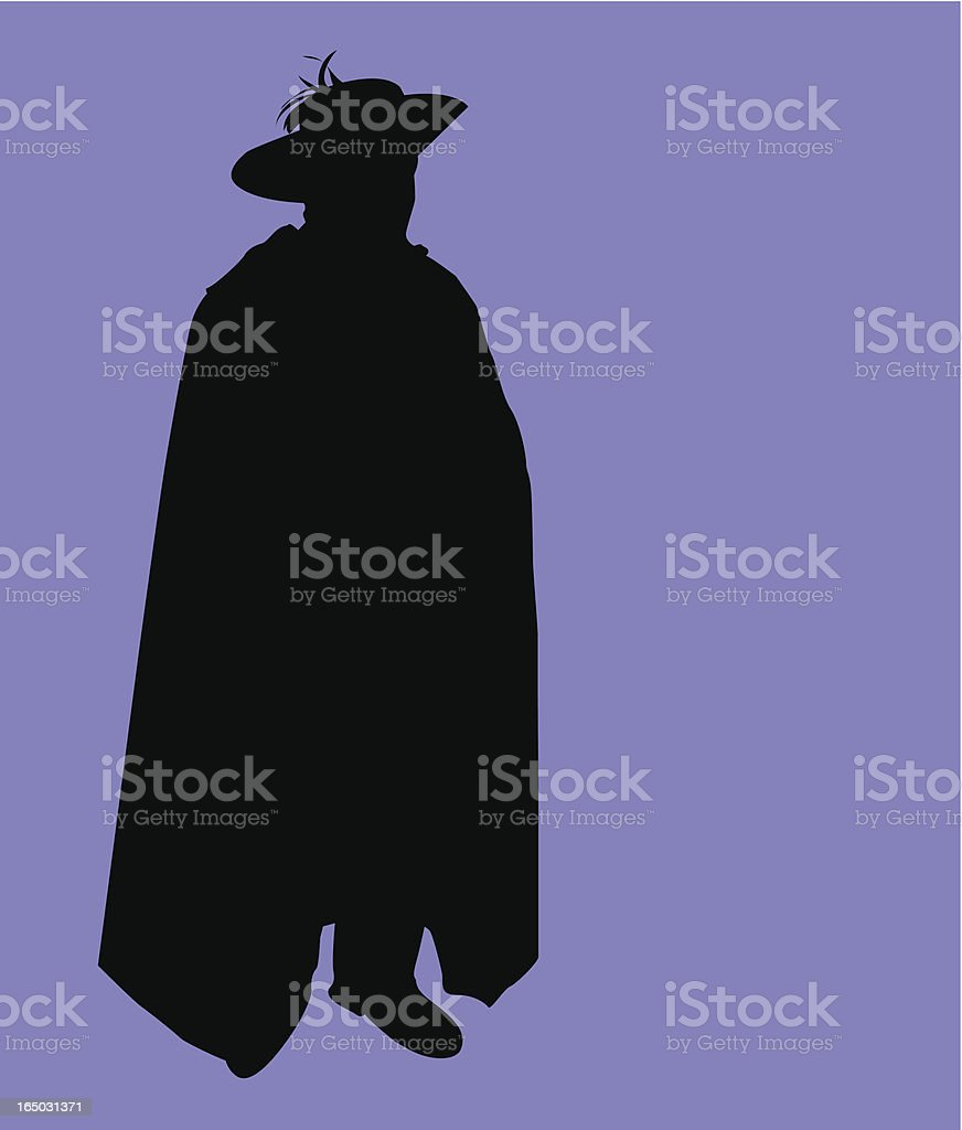 Pudgy caped crusader ( Vector ) royalty-free stock vector art