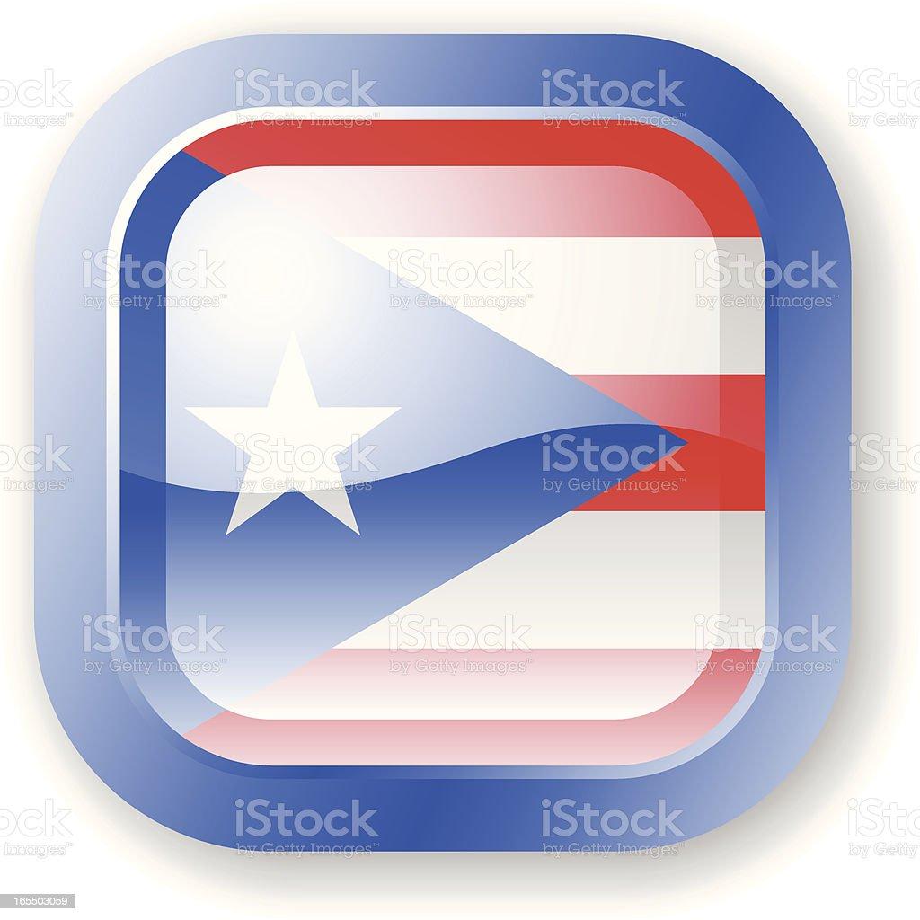 Puerto Rico Flag Icon royalty-free stock vector art