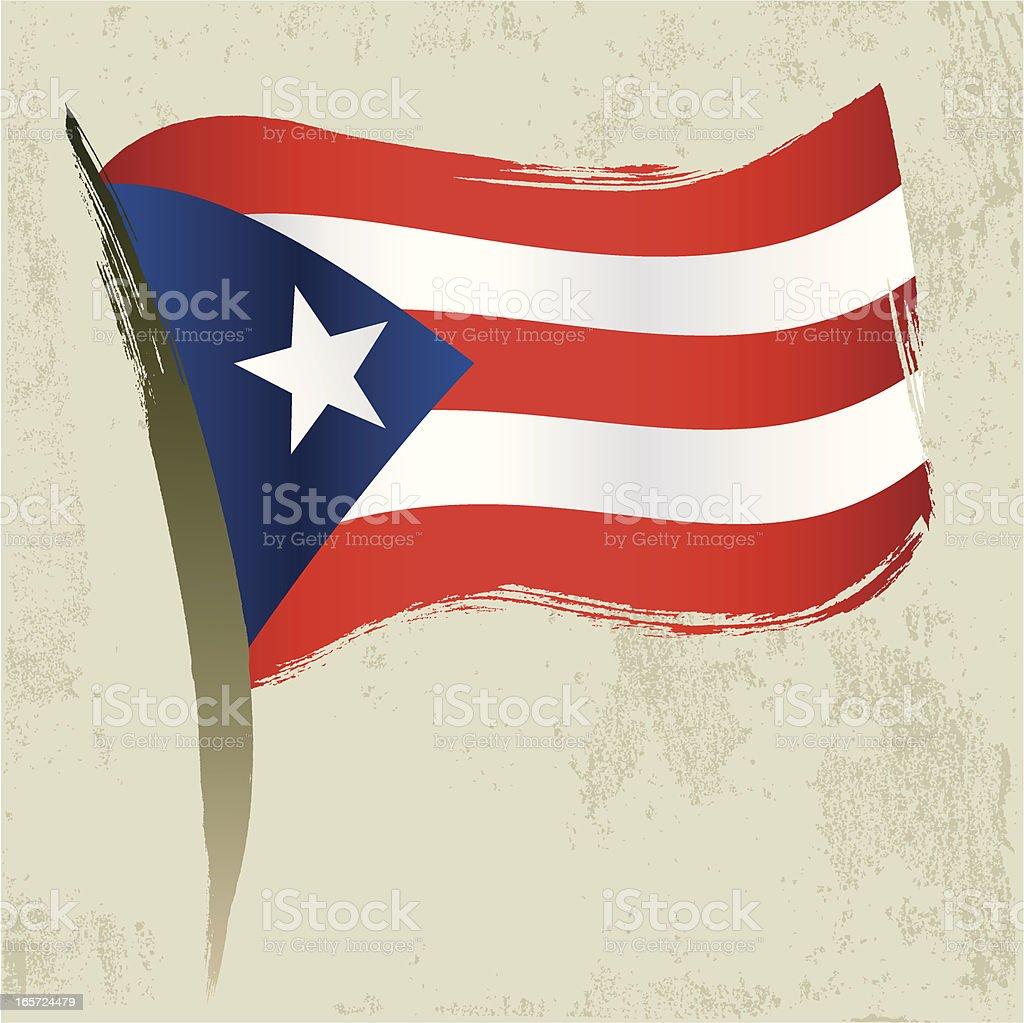 Puerto Rico Flag royalty-free stock vector art