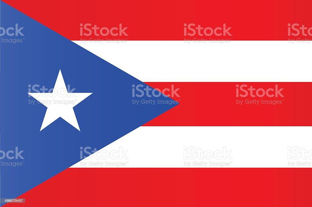 puerto rico flag vector art illustration