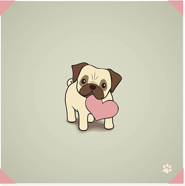 Pug With Love To Give Vector Vmmmwias Rk Photos
