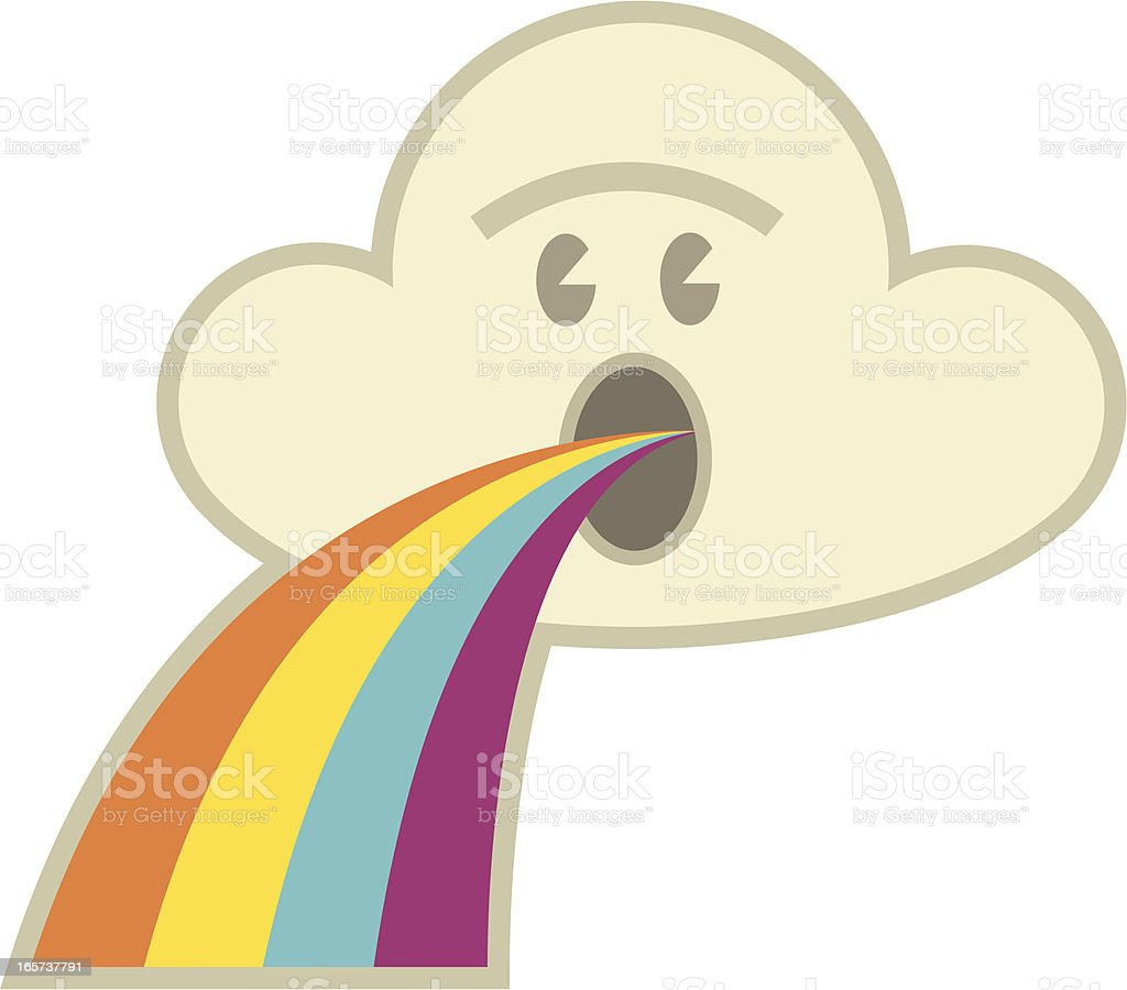 Puking Rainbows vector art illustration