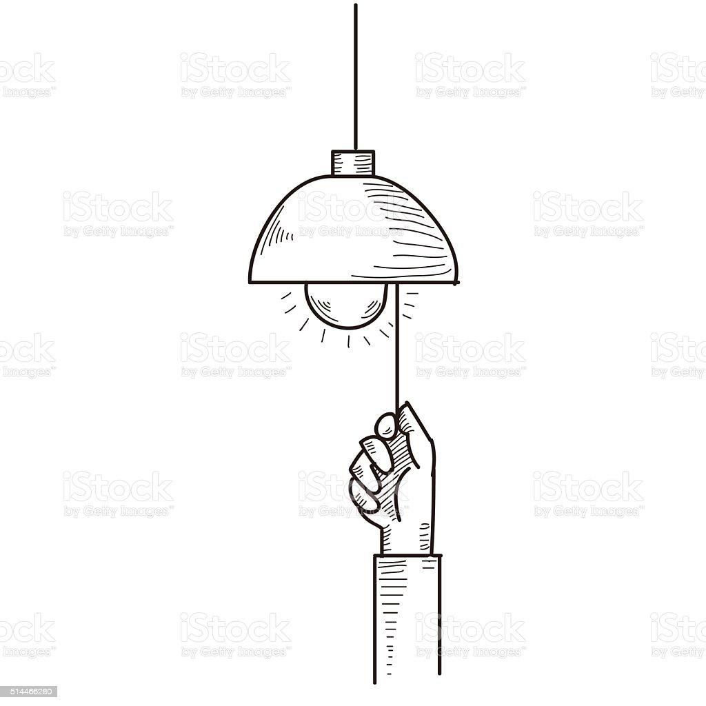 pull vector art illustration