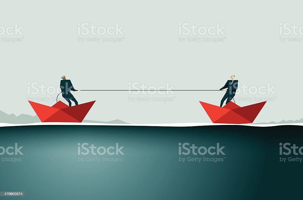 Pulling-Illustration vector art illustration