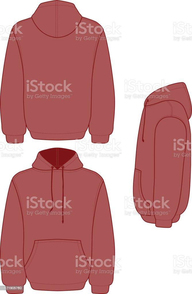 Pullover Hooded Fleece royalty-free stock vector art
