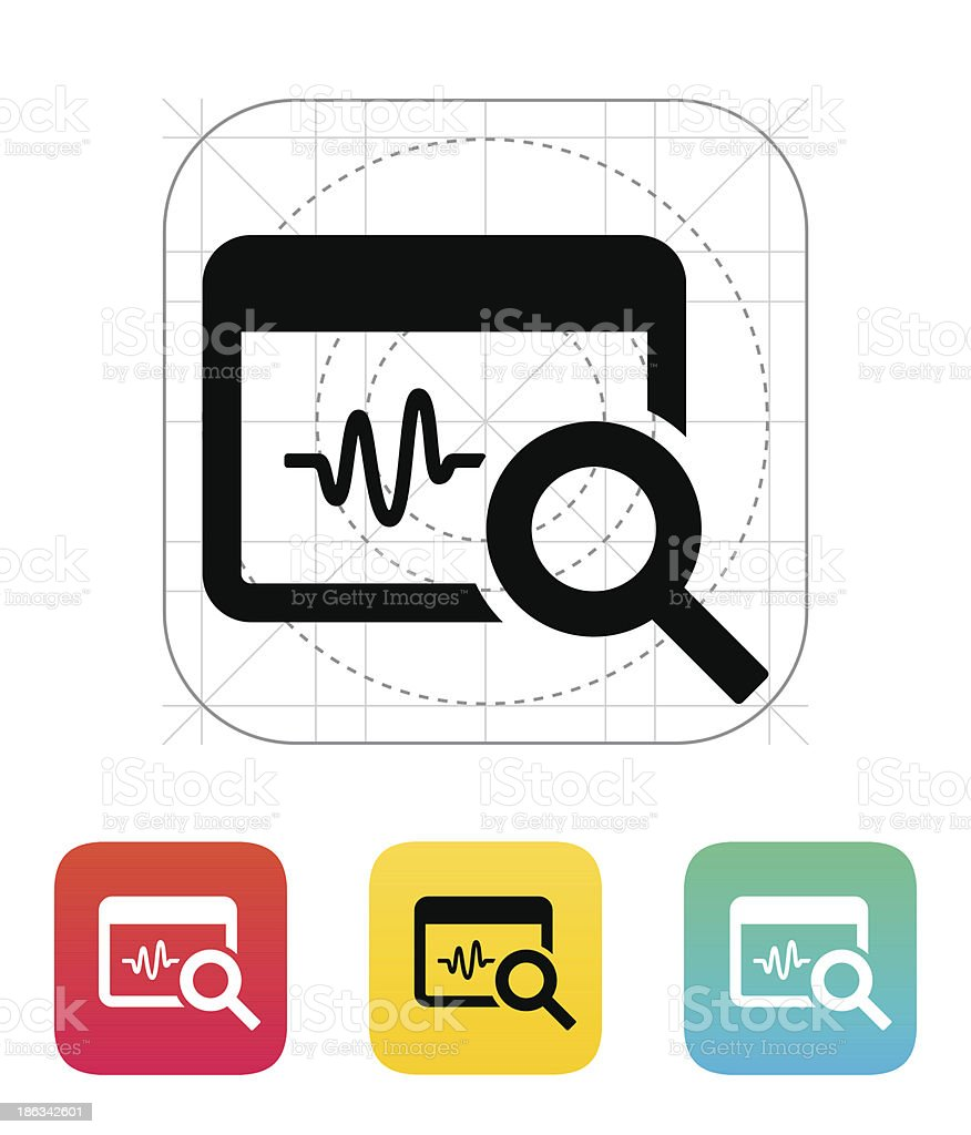 Pulse monitoring icon. royalty-free stock vector art