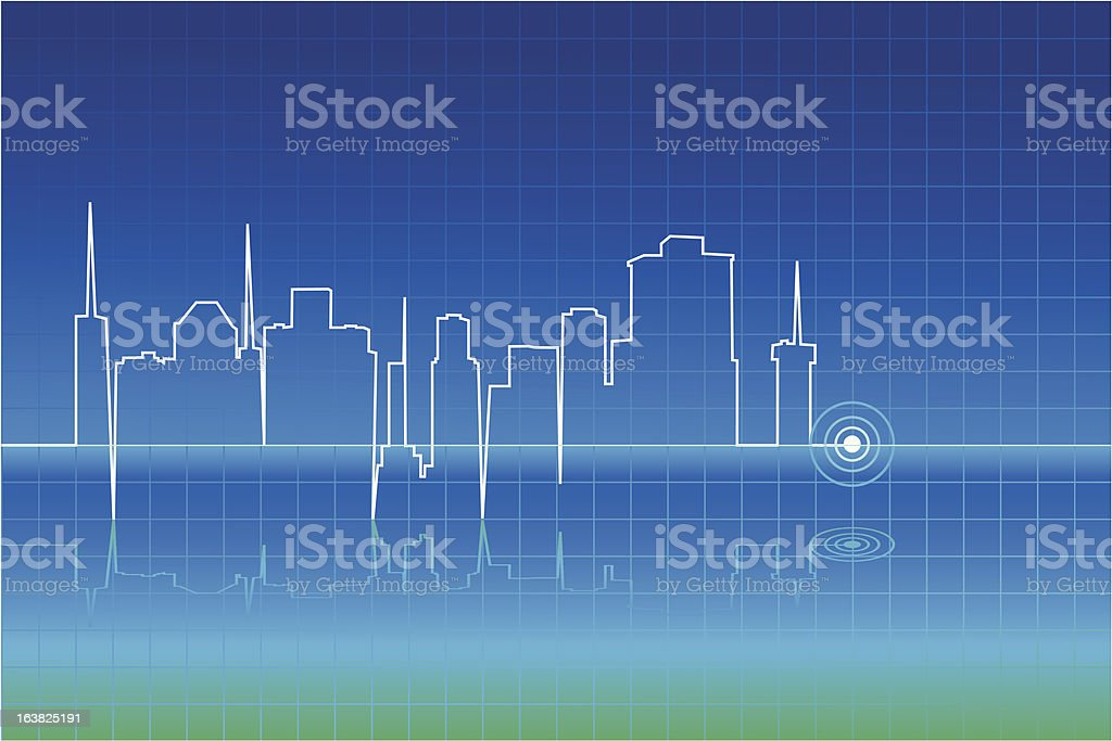 Pulse of city royalty-free stock vector art