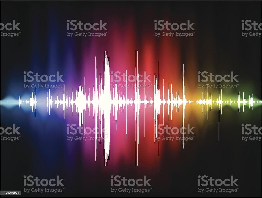 Pulse Spectrum royalty-free stock vector art