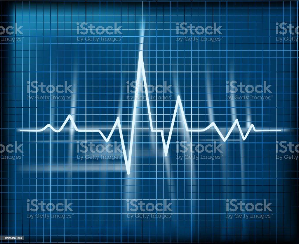 pulse trace royalty-free stock vector art