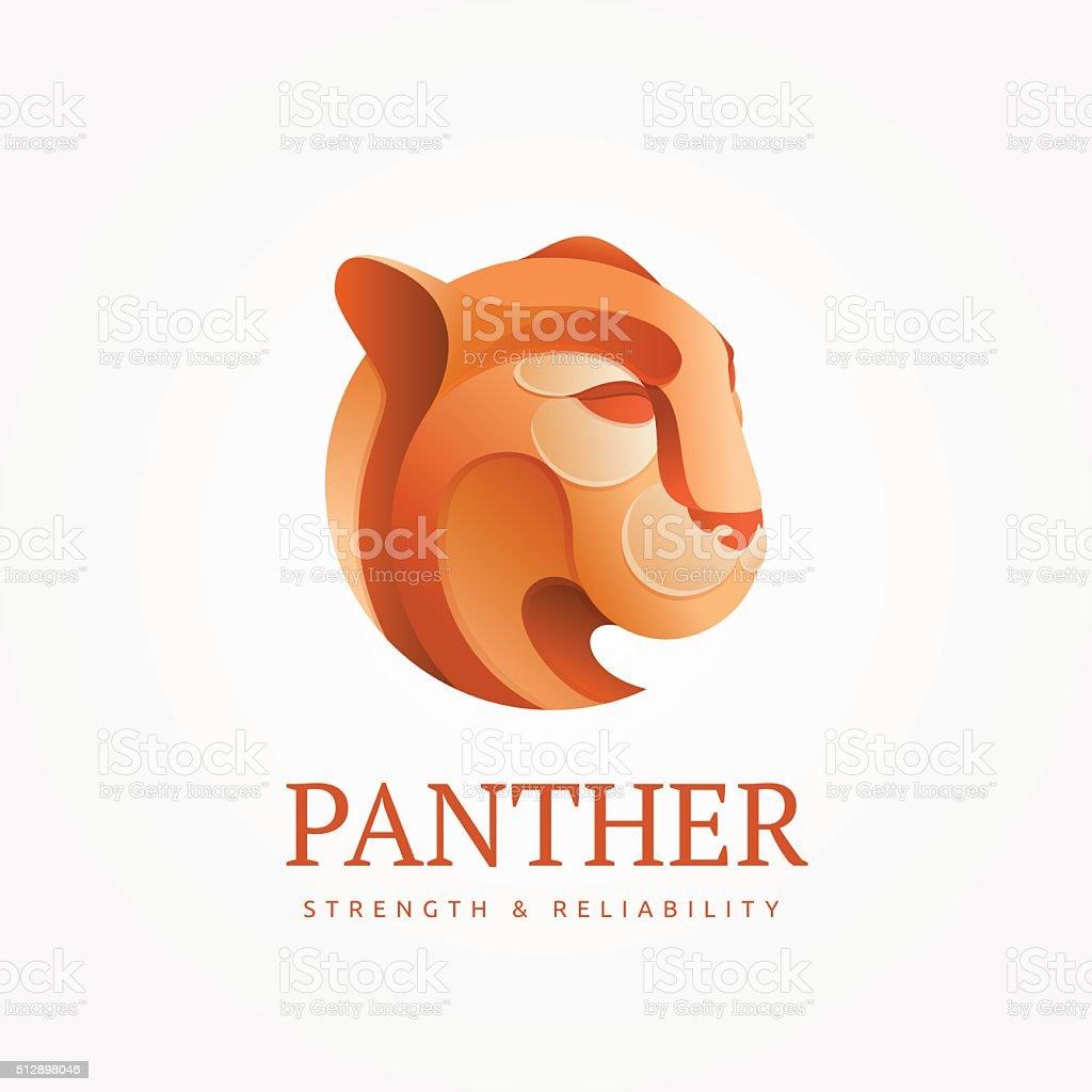 Puma  royal emblem vector art illustration