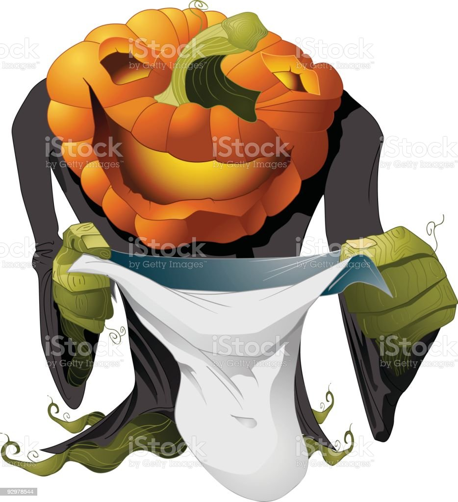 Pumkin Trick or Treat royalty-free stock vector art