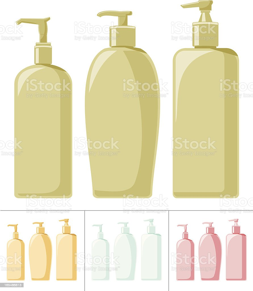 Pump Bottles royalty-free stock vector art