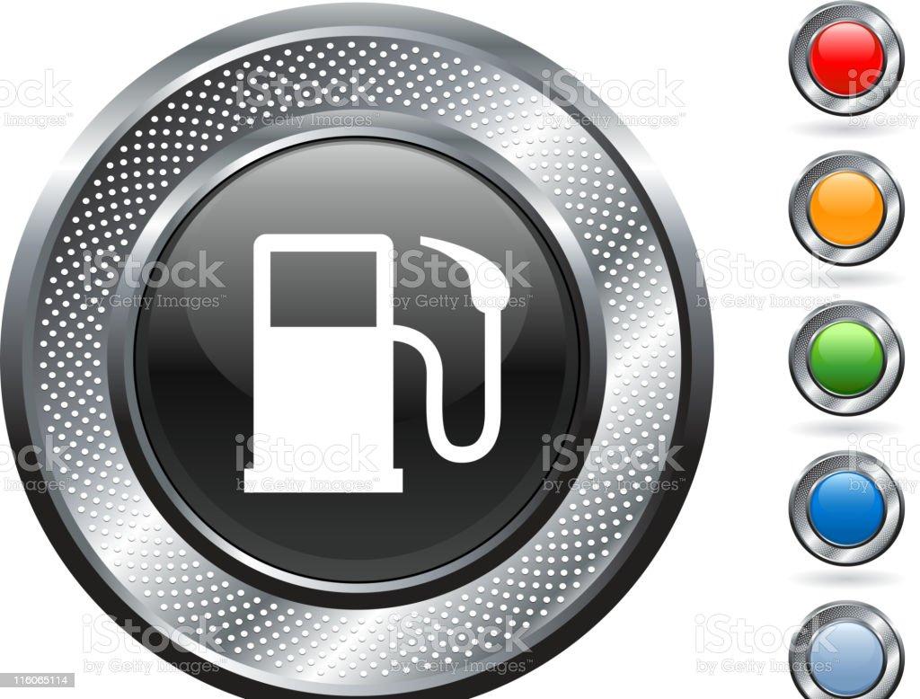 pump royalty free vector art on metallic button royalty-free stock vector art