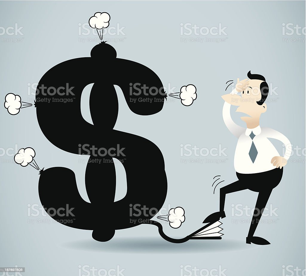 Pumping dollar sign royalty-free stock vector art