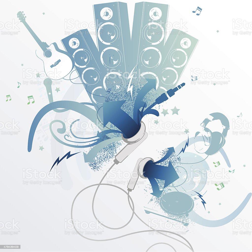 Pumping Music vector art illustration