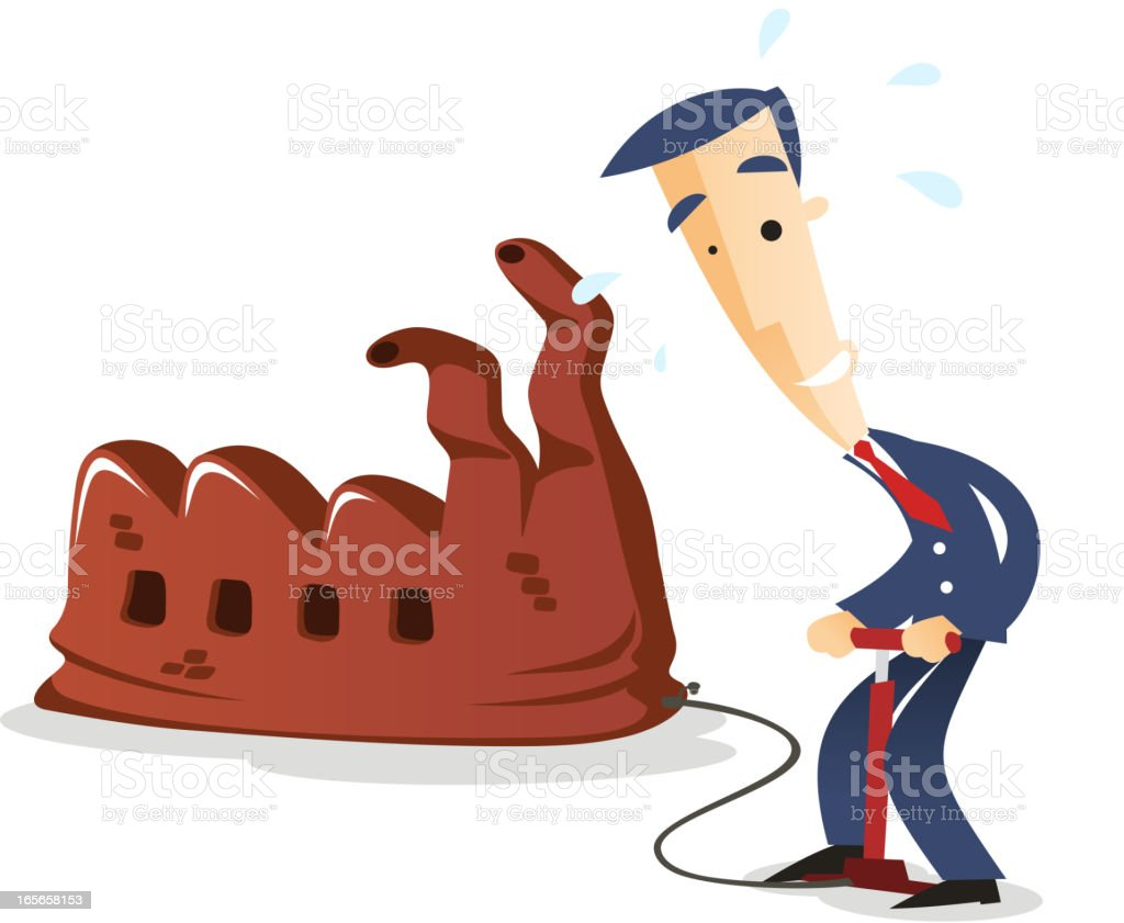 Pumping the industry royalty-free stock vector art