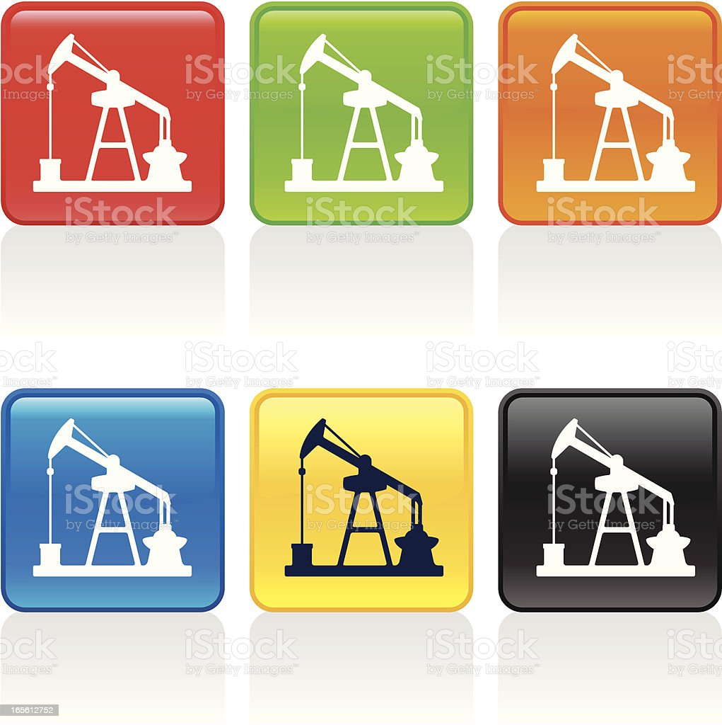 Pumpjack Icon royalty-free stock vector art