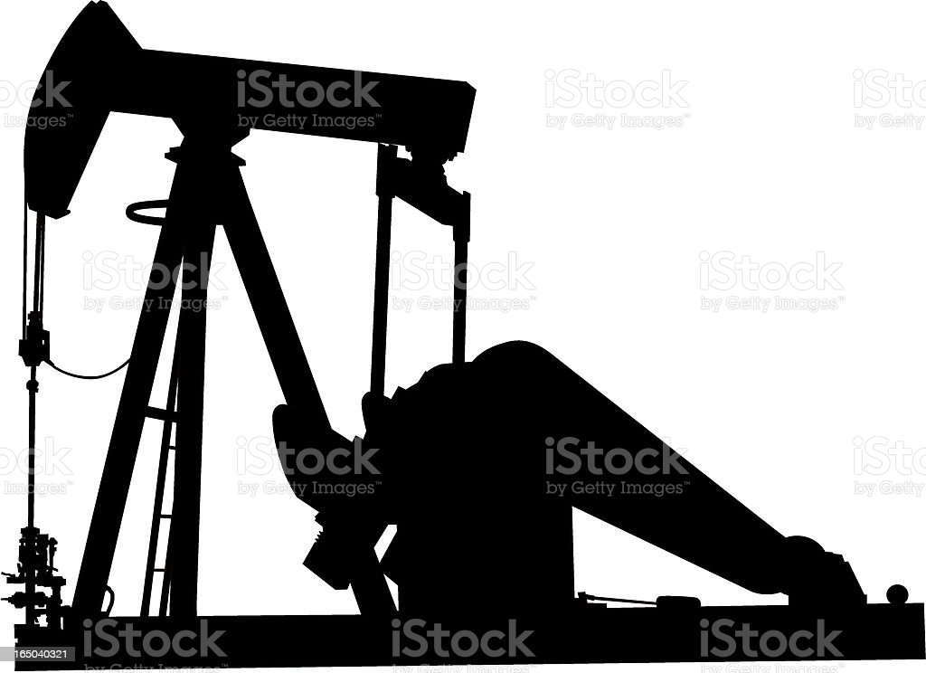Pumpjack (Vector) royalty-free stock vector art