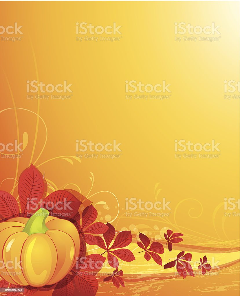 Pumpkin Background royalty-free stock vector art
