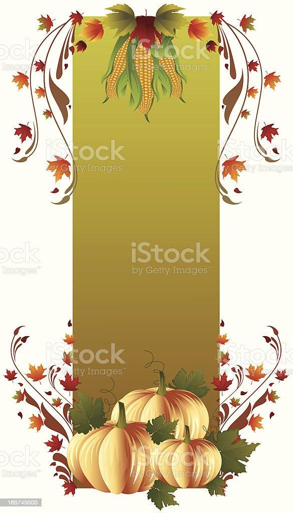 Pumpkin Banner. royalty-free stock vector art