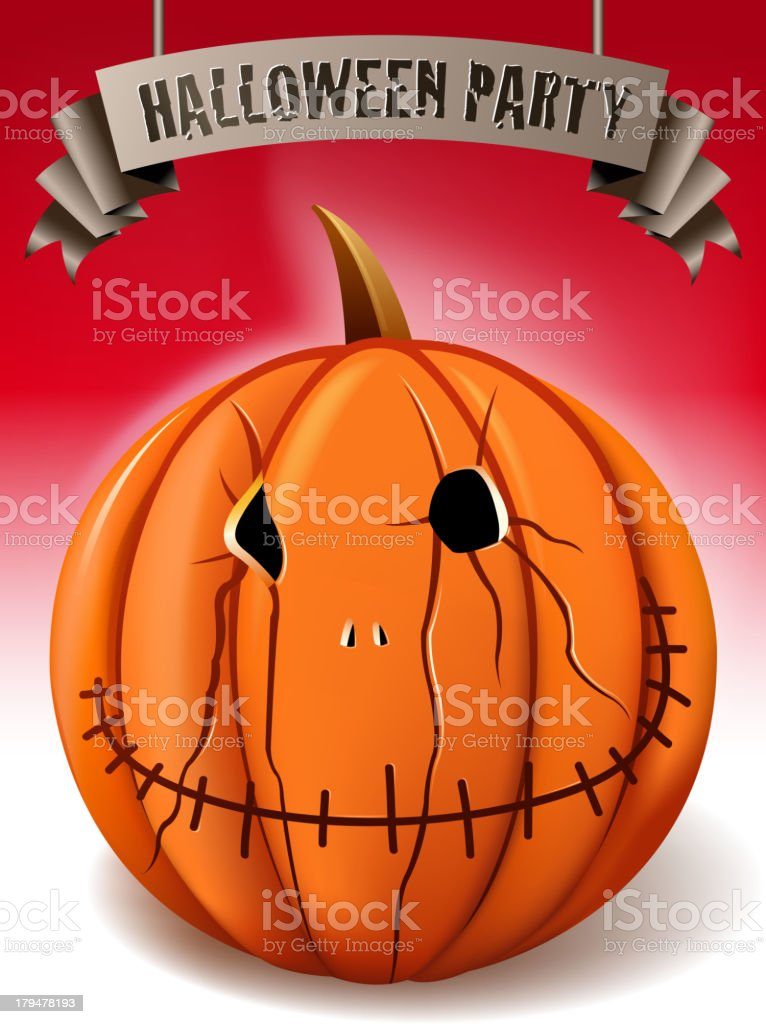 pumpkin banner royalty-free stock vector art