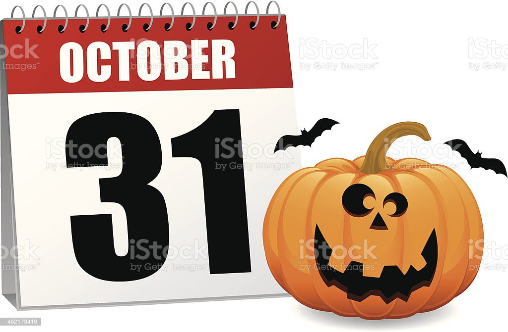 Pumpkin Calendar royalty-free stock vector art