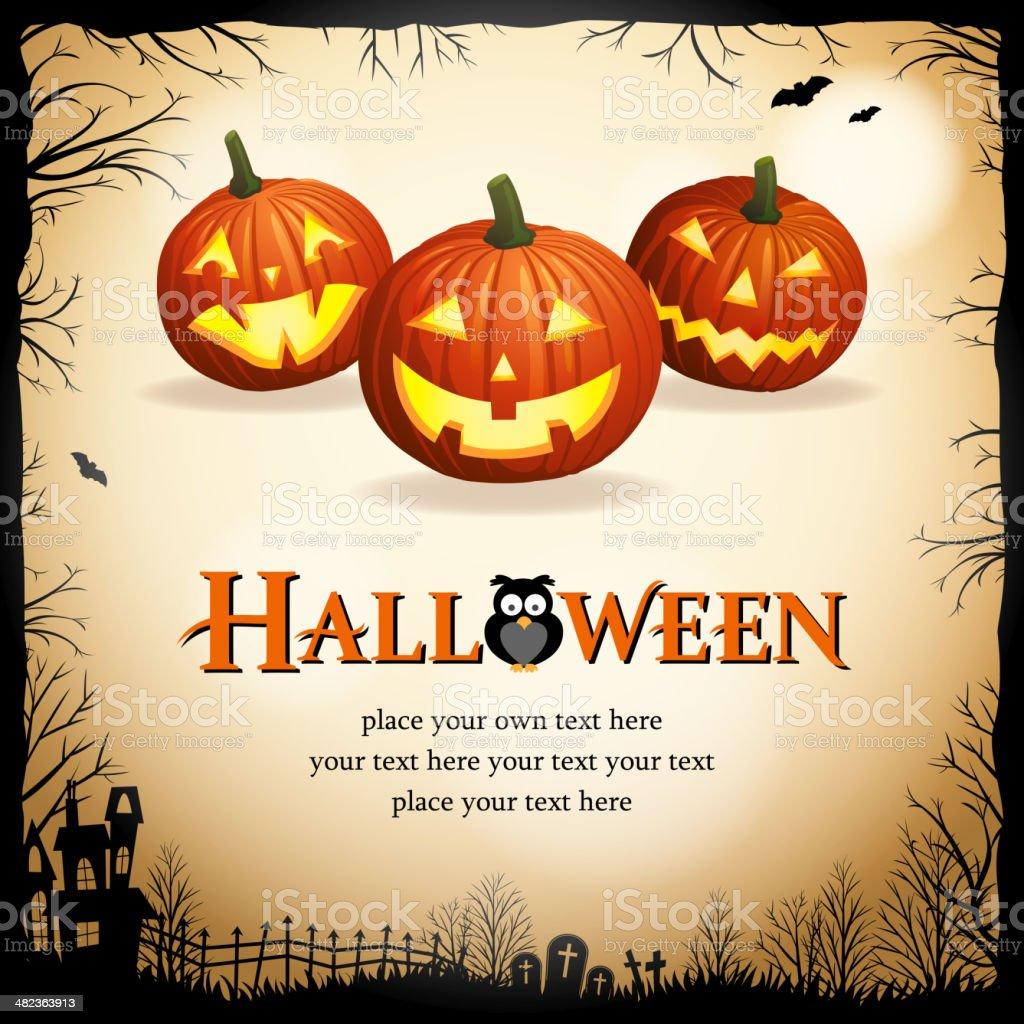 Pumpkin Carving Party vector art illustration