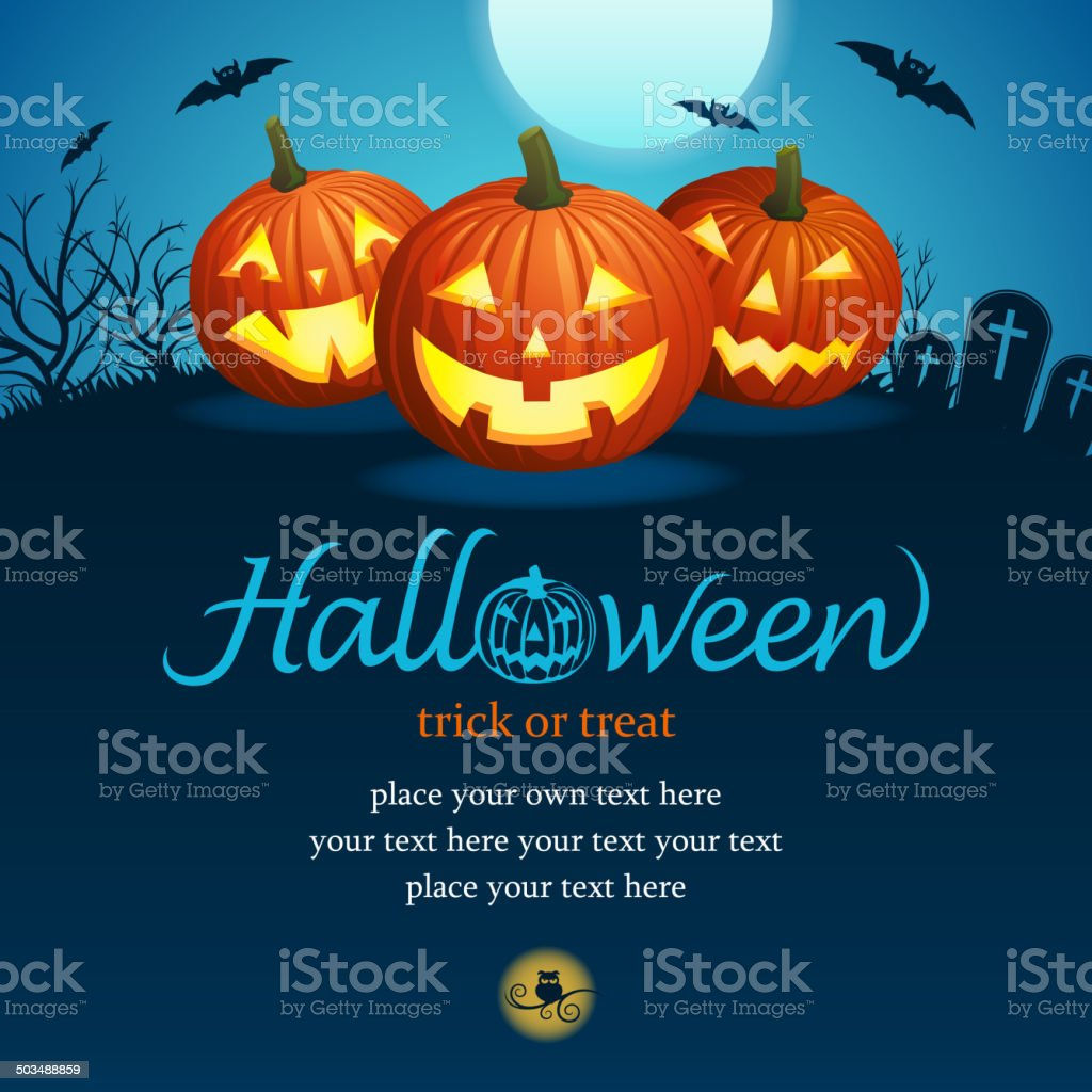 Pumpkin Carving Party royalty-free stock vector art