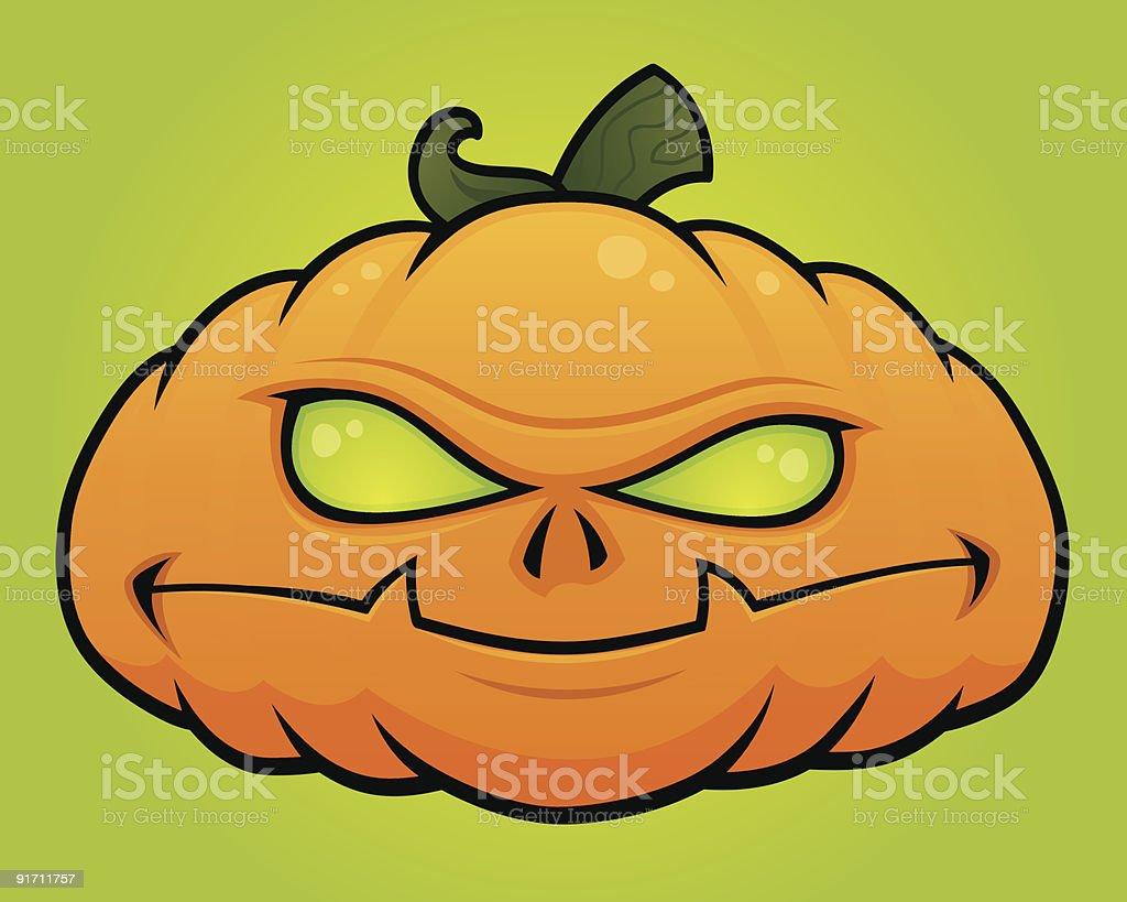 Pumpkin Head vector art illustration