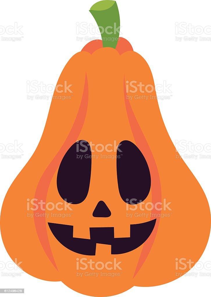 Pumpkin head vector illustration vector art illustration