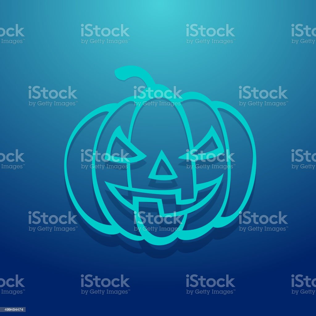 Pumpkin Icon vector art illustration