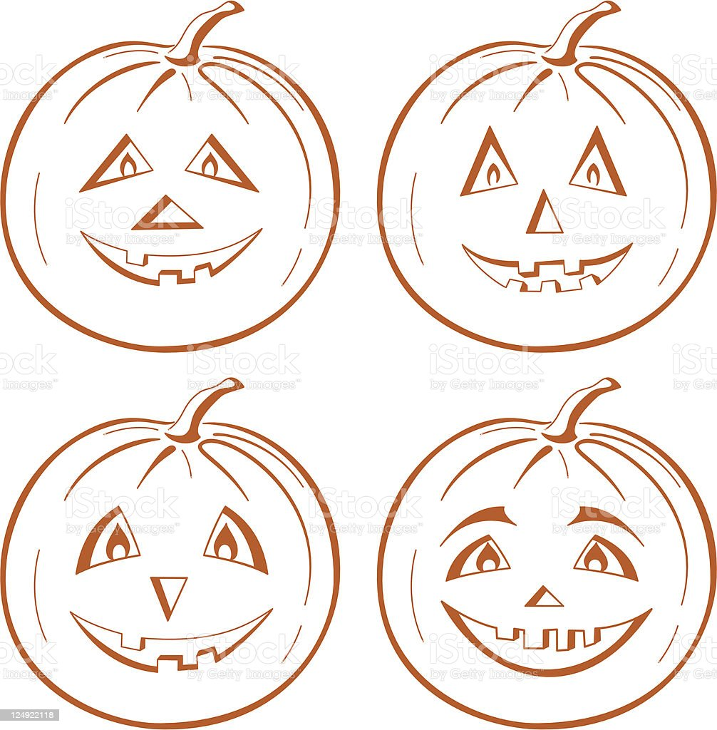 Pumpkin Jack O Lantern vector art illustration