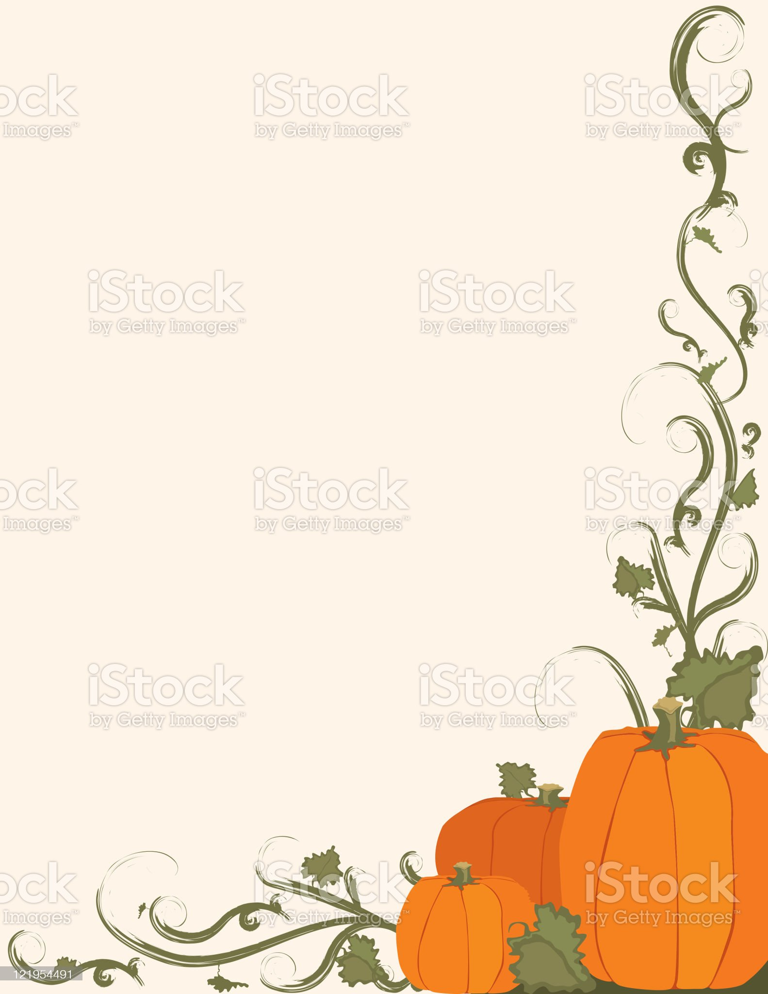 Pumpkin patch frame royalty-free stock vector art