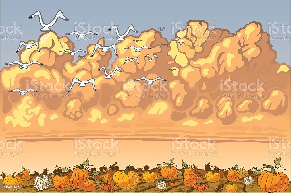 Pumpkin Patch royalty-free stock vector art