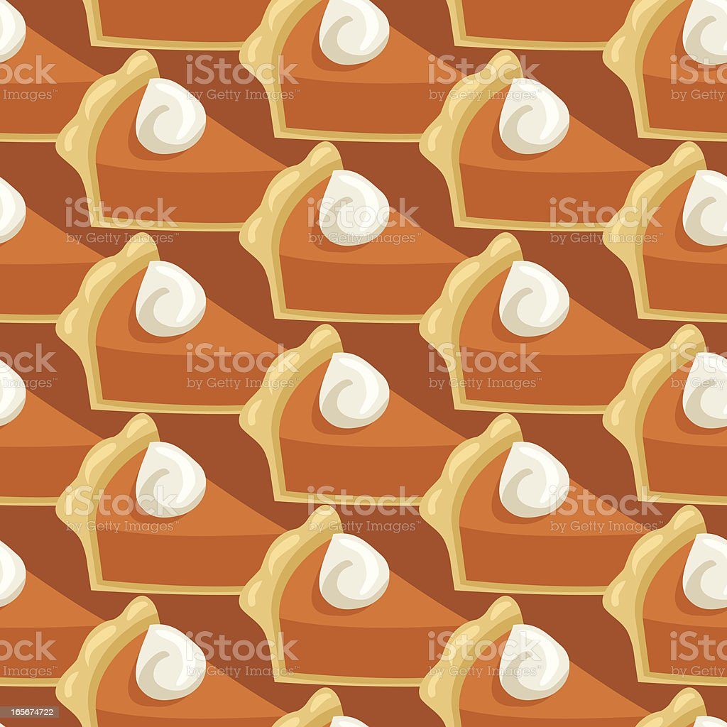 Pumpkin Pie Seamless Pattern vector art illustration