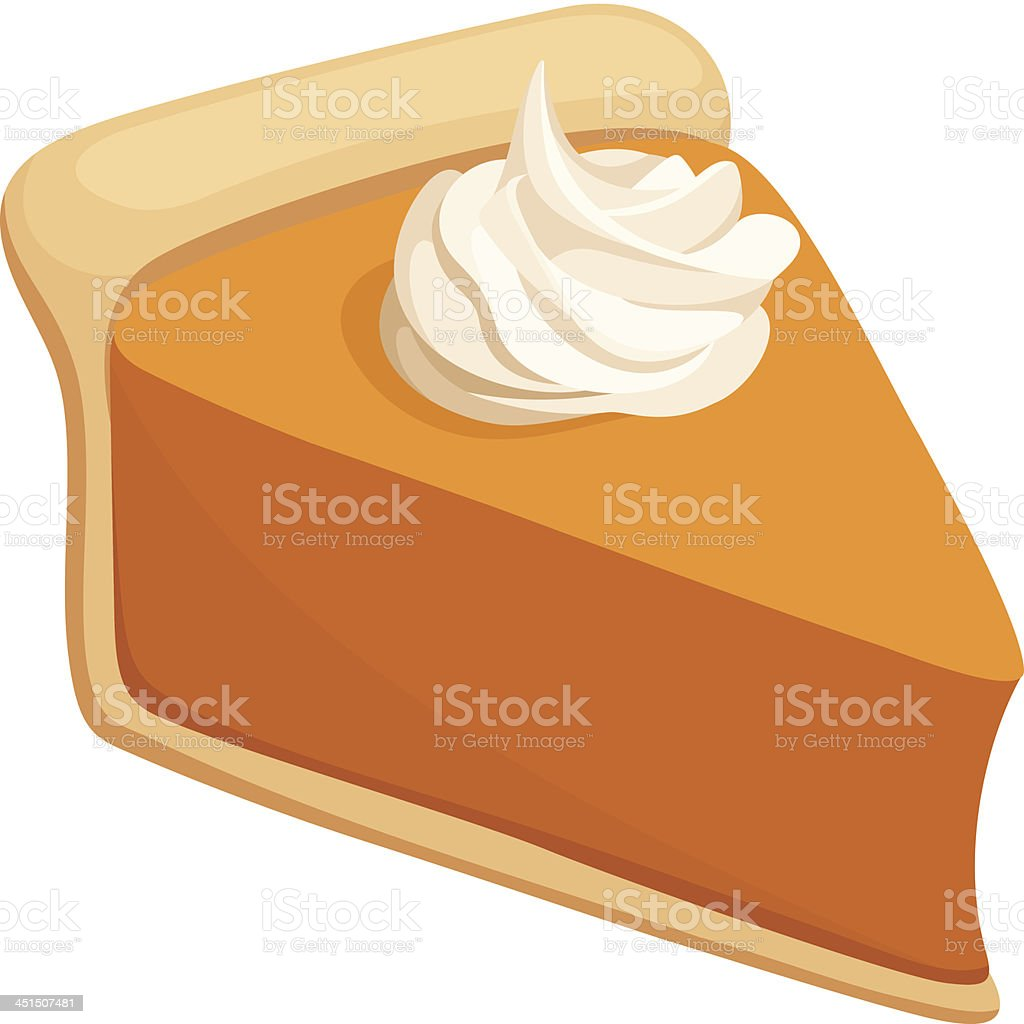 Pumpkin pie slice. Vector illustration. vector art illustration